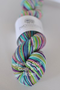 Funfetti Solid Wide Stripes Skein Title