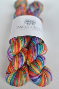 Watercoloor Rainbow Skeins