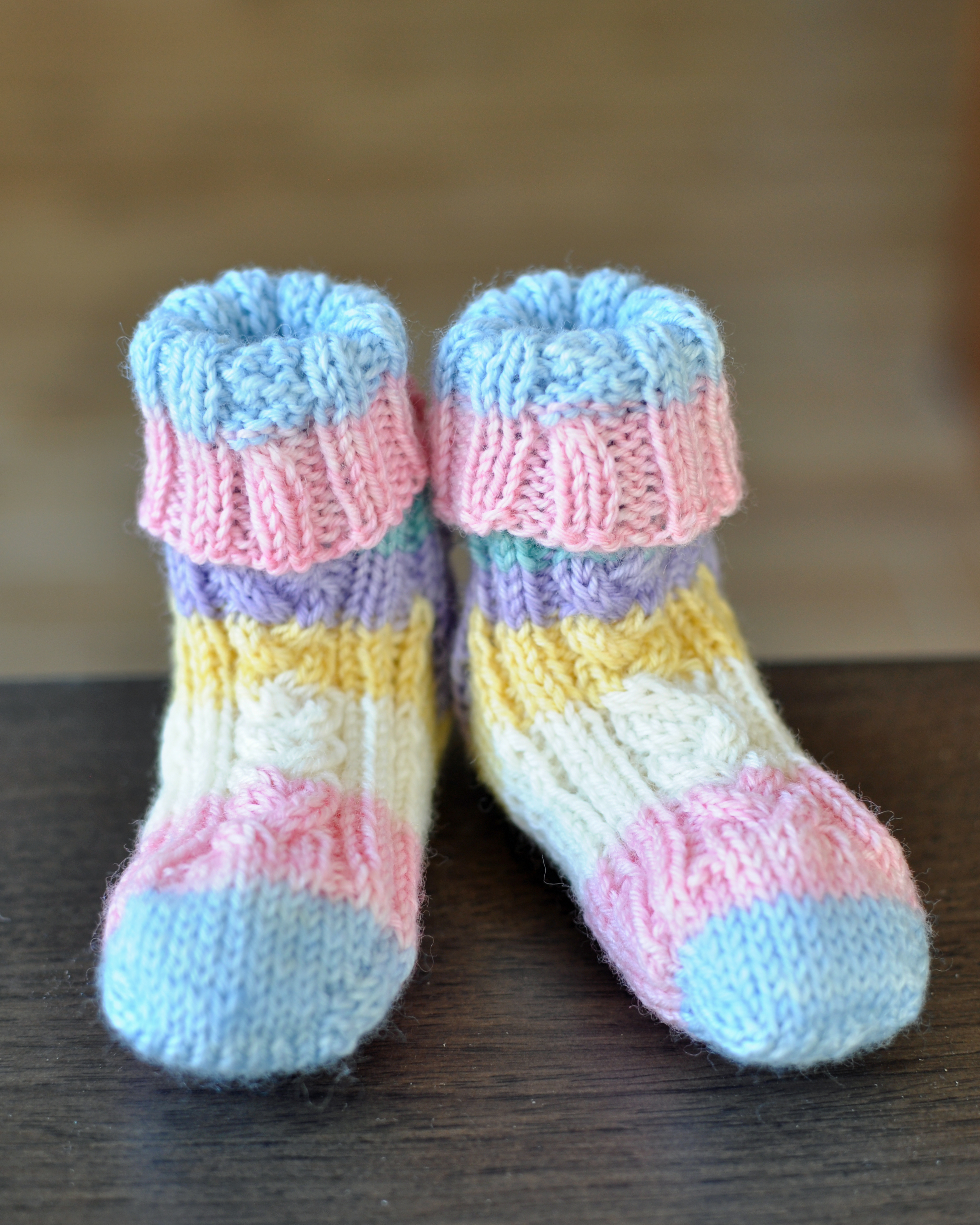 Cute Cable Baby Socks Pattern